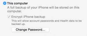 itunes encrypted backup