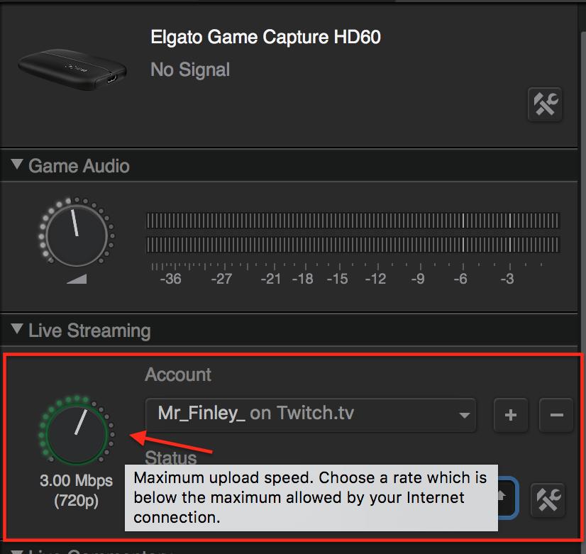 Elgato HD60 on Mac – Game Capture HD – Bitrate & video